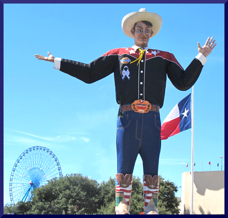 Big Tex Waves And Greets Visitors To The State Fair of Texas