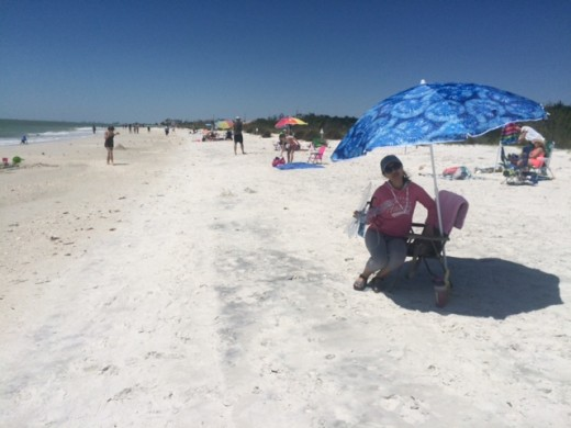 A typical Florida beach on the west coast