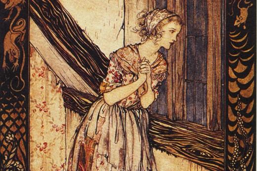 Arthur Rackham´s illustration for Cinderella