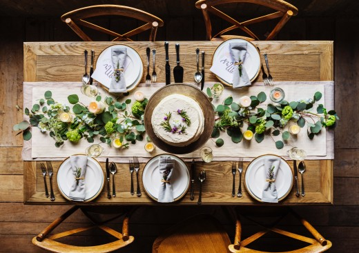 Set the tone of your event with a classic table setting style!