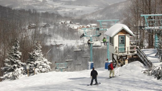 Holiday Valley Ski Resort in Ellicotville, NY located only an hour away from Buffalo.