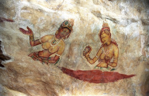 Frescoes of the Maidens of Sigiriya