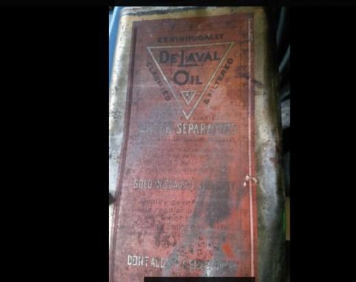 An old De Laval oil can.