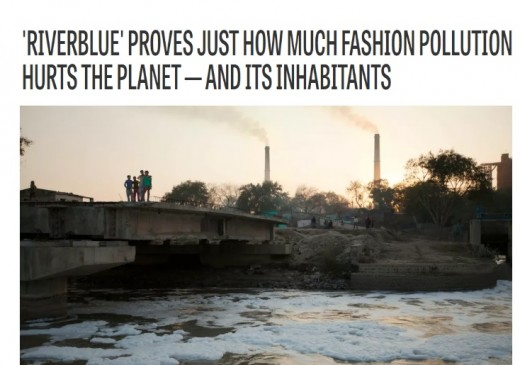 """The documentary """"RiverBlue"""" follows conservationist Mark Angelo around the world,examining rivers in China, India, Bangladesh, Indonesia, Zambia, England and the U.S., and notes the ways that they've been effected by the garment industry."""