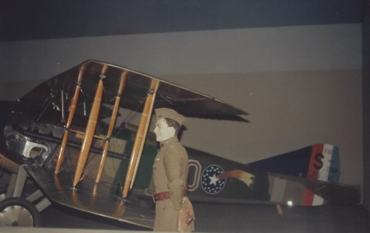 Aircraft at The National Air & Space Museum's World War I Gallery, July 1995.
