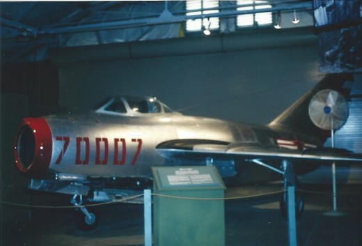 A MiG-15 at the Marine Corps Air-Land Museum, Quantico Marine Base, 2001.
