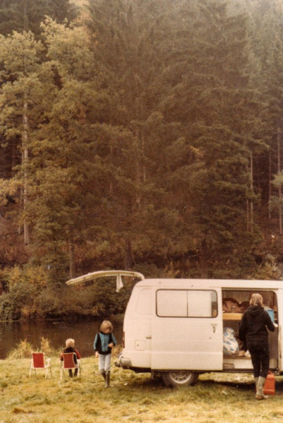 Campint at the river Ourthe