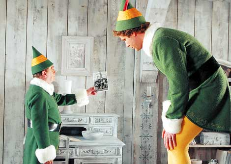 Ferrell's gangly frame is put to good use in scenes with Santa's actual elves...