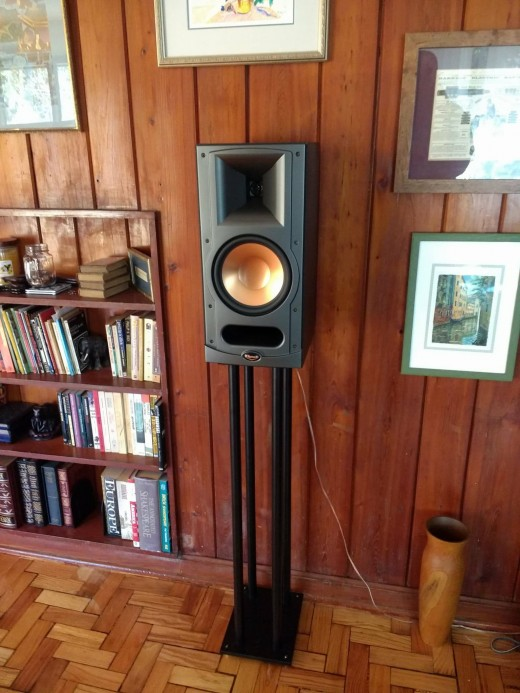 One of my old Klipsch RB-35's (no longer made). Bookshelf speakers are great for delivering audio in bedrooms, kitchens, office spaces, dens, and other rooms. Advances in technology mean that they can deliver an impressive level of power and quality.