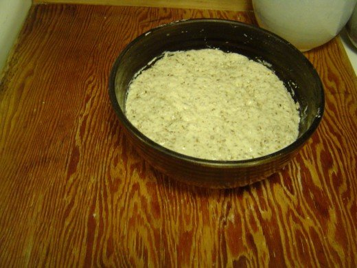 Well-risen dough.