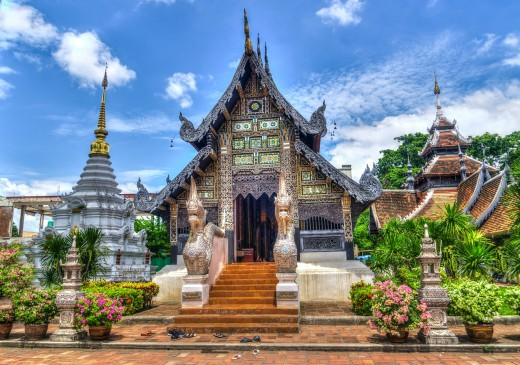 Visit this Thailand temple in the capital city of Chiang-mai.
