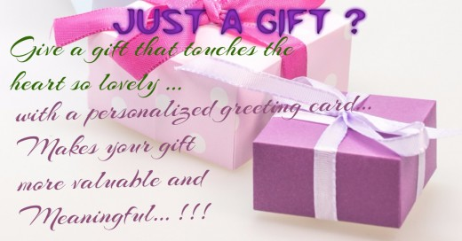 Gift versus Gift with a personalized card? What do you prefer?