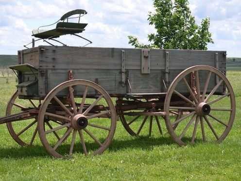 An early farm and freight wagon