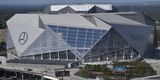 The Mercedes-Benz Stadium was opened on August 26, 2017