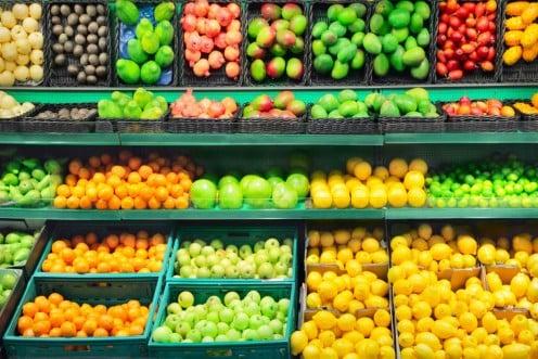 Produce on the shelf