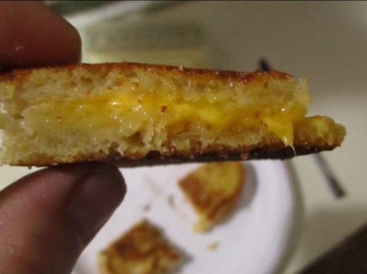Finished. Melted. Caramelized butter. Crispy bread. Delicious!