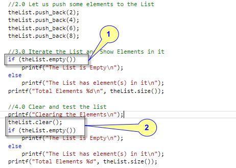 list::Empty Example