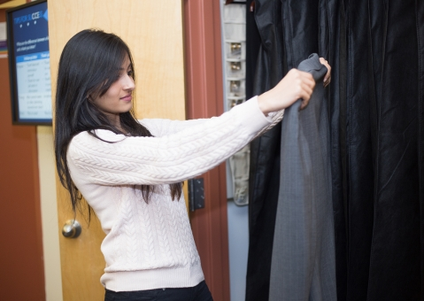 Inspection before-hand helps prevent clothing emergencies.