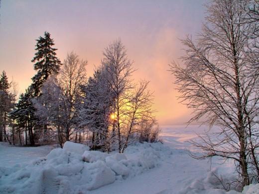 inevitably turns to running in winter snow!
