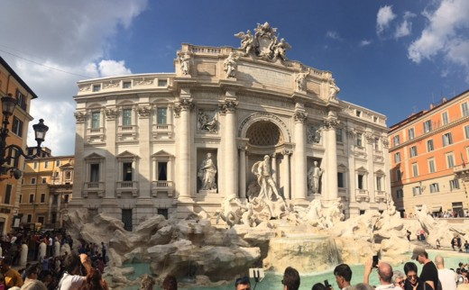View of the Trevi Fountain