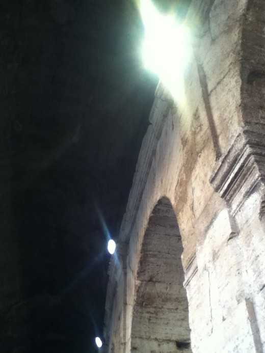 Rome Colosseum Interior Arch Detail
