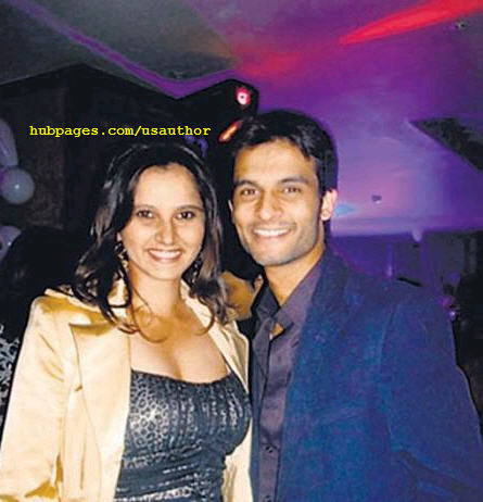 Sania with her fiance