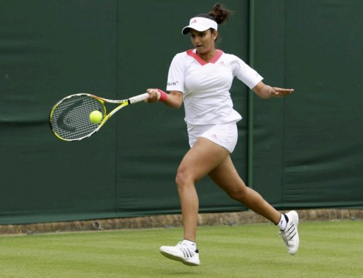 Sania in action