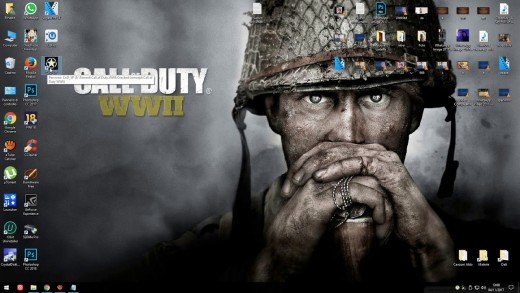 "CC image - Neato Call of Duty: WWII desktop background - Serving as a subtle reminder that ""WWII"" is now available on the PC (as well as for the Xbox One and PS4)"