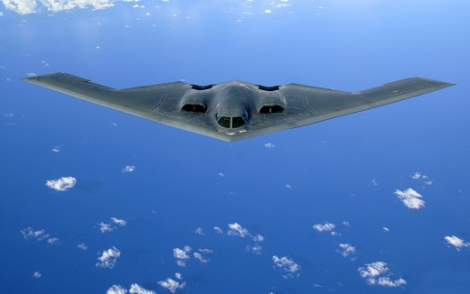 A B-2 Stealth Bomber