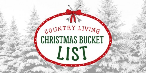 Bucket list for holiday season.