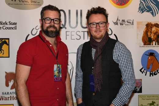 Dave James and Nathan Horrocks, with Equine Productions. Nathan won Equestrian Director International Shorts for Many Clouds. They also produced the International Commerical winner for Mole Valley Farm, Not Your Average Store.