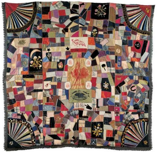 A late political 19th-century quilt. Image: public domain