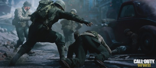 (Image - Call of Duty: WWII official poster) - it's not about the war, its about the man standing next to you - ready up, soldier