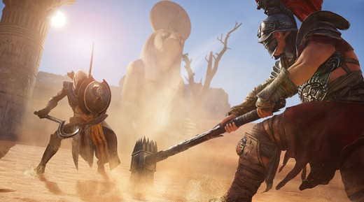 (Image - Assassin's Creed: Origins official poster) - what great video-games look like in 2017