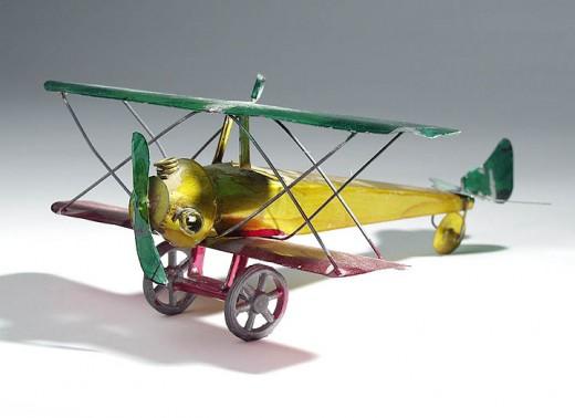 20th-Century Tin Plane