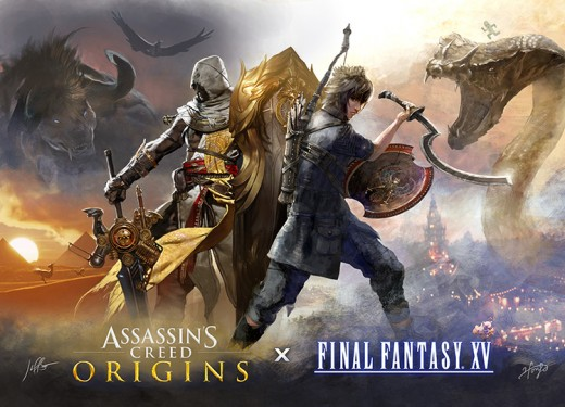 (Image - Assassin's Creed vs. Final Fantasy XV poster) - interesting face-off, but having not personally played FFXV, it would be unfair to trash them when put in comparison against the latest Assassin's Creed title