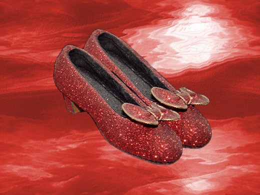 Red dancing shoes