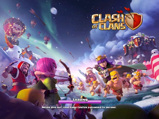 (Image - Clash of Clans '2015' Christmas cover) - Merry Christmas to all you gamers - let's make this one truly memorable