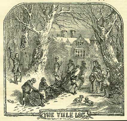 In past times, the yule log was supposed to burn for the entire Christmas Season