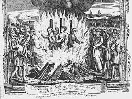 Depiction: many were burn alive as heretic