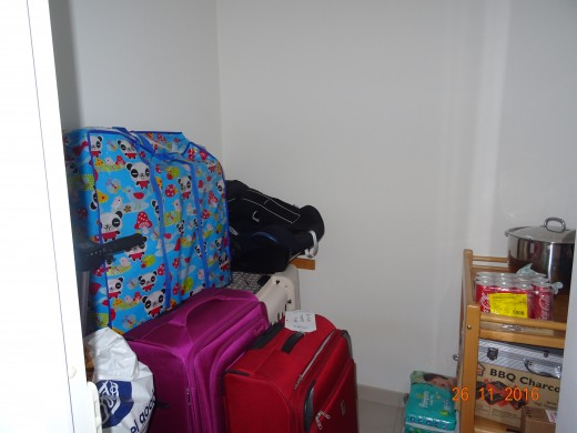 Designated maid's room, used by my family to store luggage