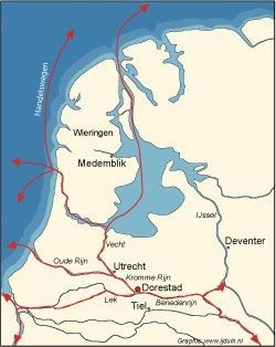 Dorestad in the Netherlands was raided and destroyed by the Danes more than once. The town was a beating heart of Frankish trade in the north of the empire