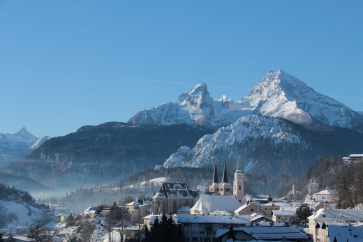 Berchtesgaden in the winter...a town with echoes of Berchta's name and beauty.
