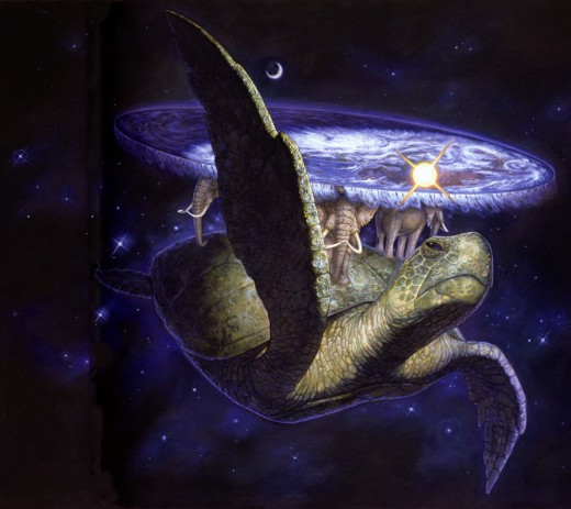 A'tuin, carrying Discworld