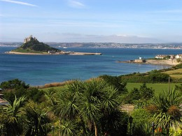 Beautiful view from the top of the hill, east end of Marazion