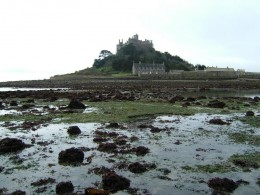 East side of the causeway at low tide