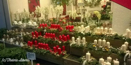 Flower shop selling Advent Wreaths.
