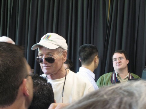 Paul Newman in Carnation, Washington June 2007. In this photo, he is wearing shades--very cool look in my judgment.