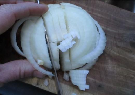chopped small