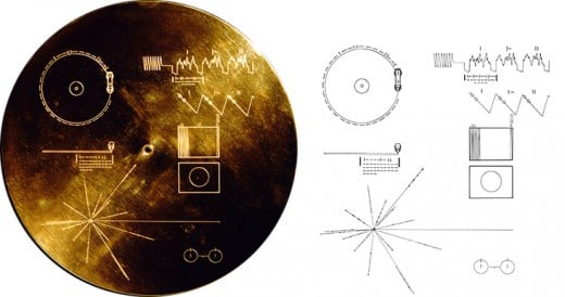 The cover of the Golden Record contains visual instructions to play it for whomever may find the probe in the future.